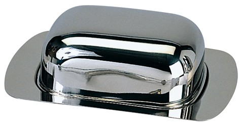 כלי לחמאה מנירוסטה עם מכסה