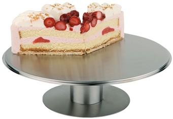 מתקן על רגל להצגת עוגות מנירוסטה