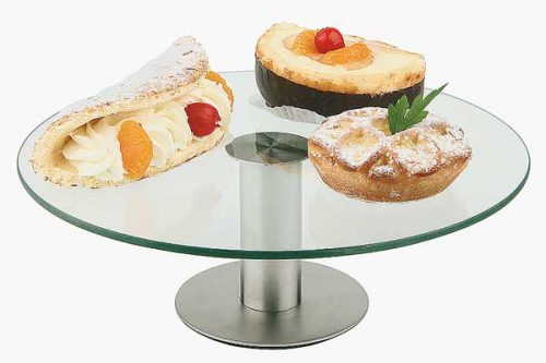 מעמד לעוגה זכוכית