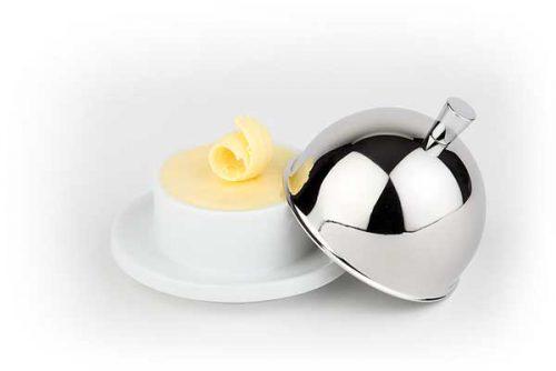 כלי לחמאה מכסה נירוסטה