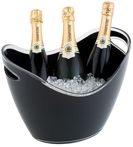"""שמפניירה אקרילית שחורה 35X27 ס""""מ"""