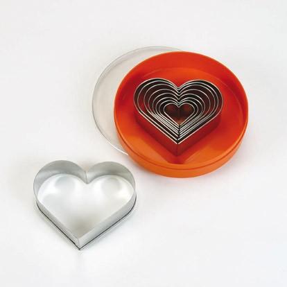 סט מקדים בצורת לב