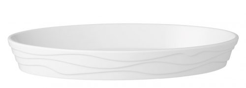 קערה מלמין עם עיטור גלי